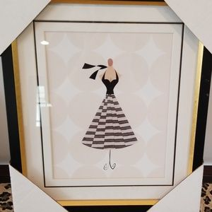 Framed and matted dress print